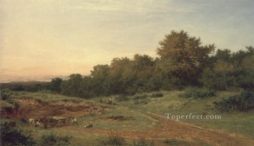 The Sandpit Burrows Cross Benjamin Williams Leader Oil Paintings